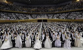 This is What it Looks Like When 3,500 Moonies Get Married