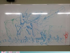 Teacher is out... draw ponies!