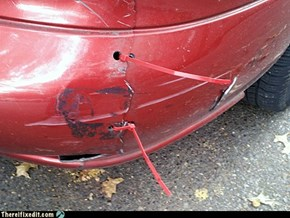 Easy broken bumper repair
