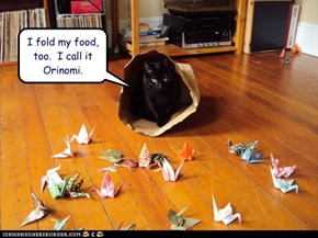 I fold my food, too.  I call it Orinomi.
