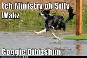 teh Ministry ob Silly Wakz  Goggie Dibizshun