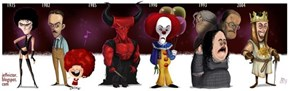 The Cartoon Evolution of Tim Curry Characters