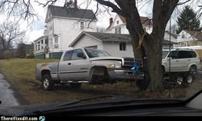 Redneck truck jack?