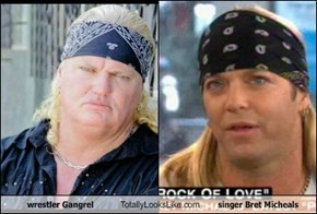 wrestler Gangrel Totally Looks Like singer Bret Micheals