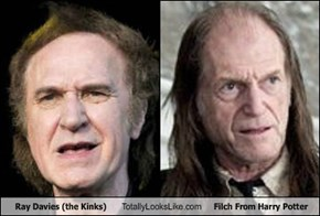 Ray Davies (the Kinks) Totally Looks Like Filch From Harry Potter