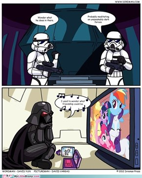 What Vader REALLY does in there