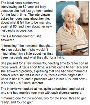 This Old Woman is Getting Married for the 4th Time!