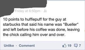 Bueller.... Buelller...