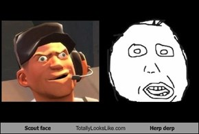 Scout face Totally Looks Like Herp derp