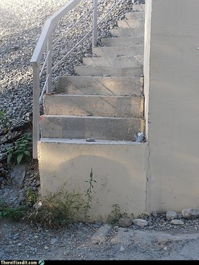 They ran out of steps?