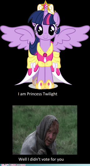 You don't vote for Princesses