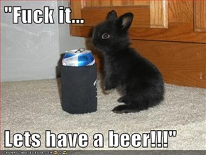 """f*ck it...  Lets have a beer!!!"""