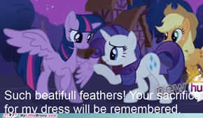 Rarity's princess feather dress