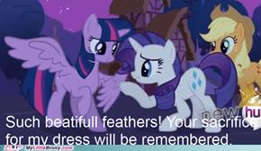 Rarity's princess feather dress