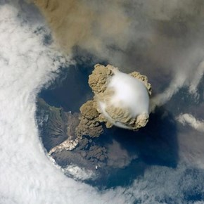 A New Perspective of the Day: This is What a Volcano Eruption Looks Like from Space