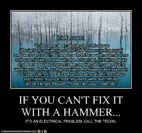 IF YOU CAN'T FIX IT WITH A HAMMER...
