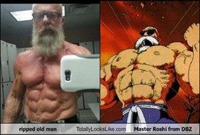Ripped Old Man Totally Looks Like Master Roshi from DBZ