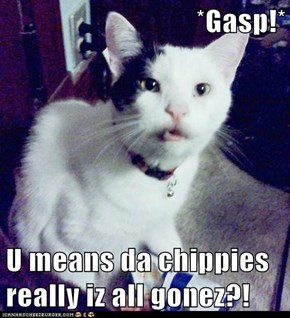 *Gasp!*  U means da chippies really iz all gonez?!