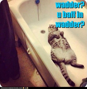 wadder? u baff in wadder?