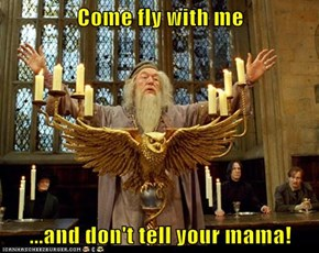 Come fly with me  ...and don't tell your mama!