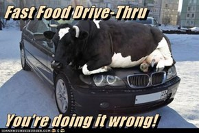 Fast Food Drive-Thru   You're doing it wrong!