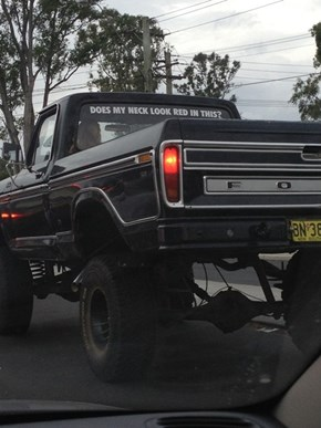 This Guy Has a Sense of Humor About his Truck