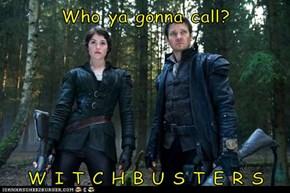 Who ya gonna call?  W I T C H B U S T E R S