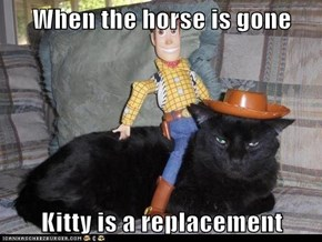 When the horse is gone  Kitty is a replacement