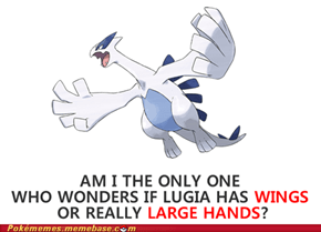 Can't tell if large fingers or large feathers