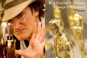 "Quentin Tarantino: Winner of Best Original Screenplay for ""Django Unchained"""
