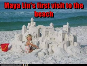 Maya Lin's first visit to the beach
