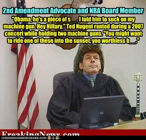 Ted Nugent - a popular and outspoken gun-rights advocate.