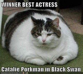 WINNER BEST ACTRESS  Catalie Porkman in Black Swan
