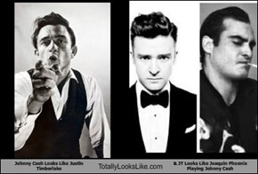 Johnny Cash Looks Like Justin Timberlake Totally Looks Like & JT Looks Like Joaquin Phoenix Playing Johnny Cash