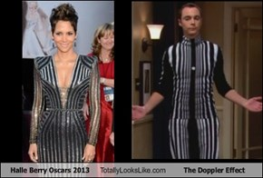 Halle Berry Oscars 2013 Totally Looks Like The Doppler Effect