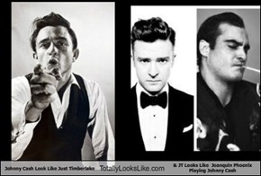 Johnny Cash Look Like Just Timberlake Totally Looks Like & JT Looks Like  Joanquin Phoenix Playing Johnny Cash