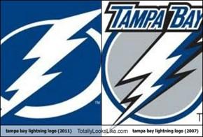 tampa bay lightning logo (2011) Totally Looks Like tampa bay lightning logo (2007)