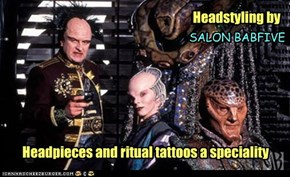 Twenty per cent surcharge for service by our Vorlon Proprietor