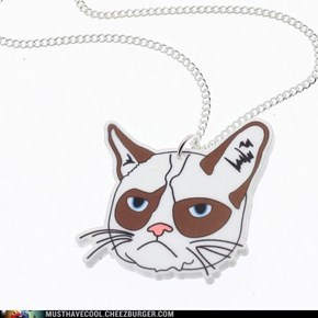 Cute Grumpy Cat Necklace