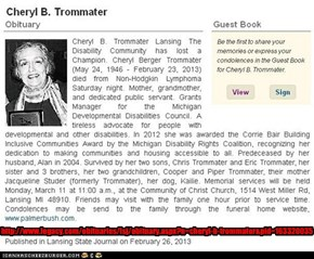 _C_A_T_'s Mom's Obituary -- http://goo.gl/rSRj6