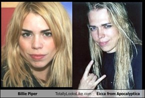 Billie Piper Totally Looks Like Eicca from Apocalyptica