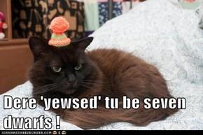 Dere 'yewsed' tu be seven dwarfs !