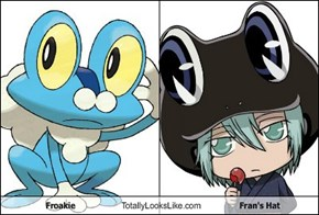 Froakie Totally Looks Like Fran's Hat
