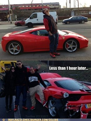 DJ Afrojack HAD His First Ferrari Today...