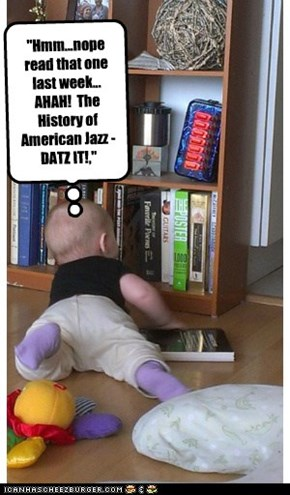Mizz Sadie chooses a book to read.