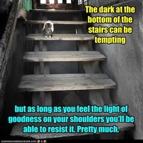 But basement cat's got treets!