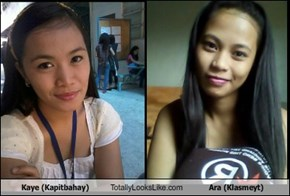 Kaye (Kapitbahay) Totally Looks Like Ara (Klasmeyt)