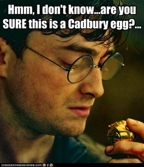 Hmm, I don't know...are you SURE this is a Cadbury egg?...