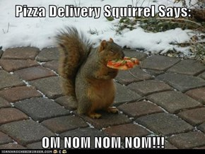 Pizza Delivery Squirrel Says:  OM NOM NOM NOM!!!