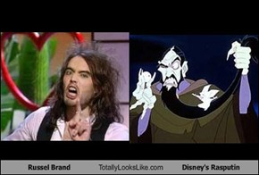 Russel Brand Totally Looks Like Disney's Rasputin